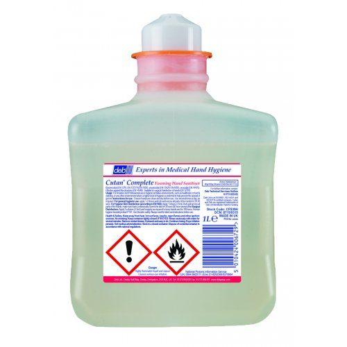 Cutan Foam Hand Sanitiser 1Ltr CODE: CFS39H