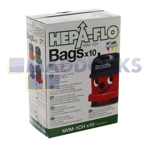 Numatic Hepaflo Dust Bags CODE: 46NM15