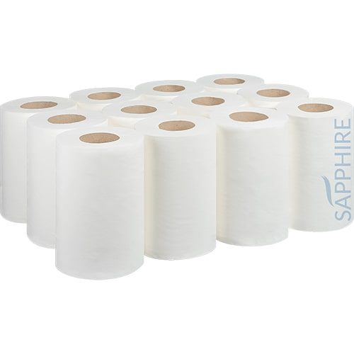 Mini 2 Ply White Centre Pull Rolls CODE: CP4