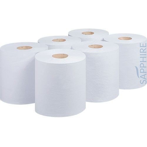 2 Ply White 180m Centre Pull Rolls – CODE: CP9