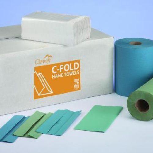1 Ply Blue C Fold Hand Towels CODE: HT1.B