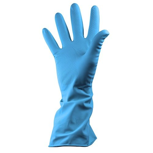 Rubber Gloves Blue CODE: MIS74B