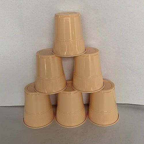 7oz Mocha Plastic Cups CODE: SUN16