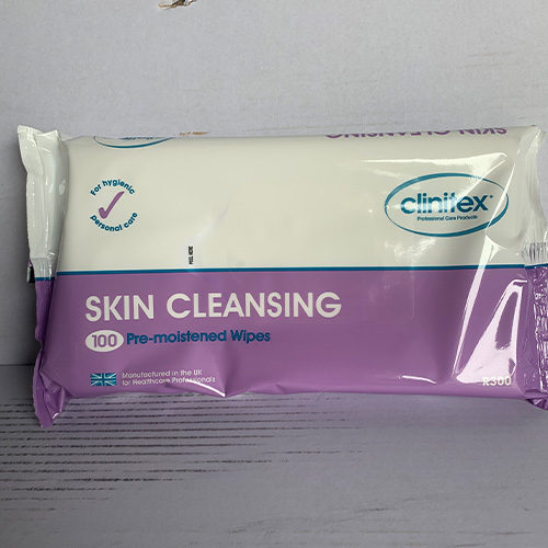 Skin Cleansing Moistened Wipes CODE: WW17