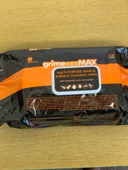 Grime-Eez MAX Hand & Surface Wipes CODE: WW2